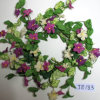 Je183 Spring Colorful Handmade Foam & Linen Flower Wreath Artificial Flowers