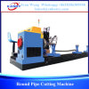CNC Round Pipe Plasma Flame Cutting Machine