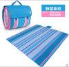Pink Blue Stripes Micro Fiber Picnic Blanket