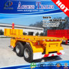 Double-Axles 20′ Container Unloading Flatbed Trailer with Twist Lock