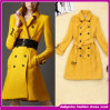 2014 Brand Hottest Ladies Slim Wool Casual Wear Long Coat (D039)