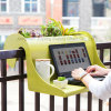 Garden Furniture Sets - Plastic Loft Table with Plants for Your Coffee Time