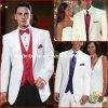 White Groom Men Suits Red Blue Purple Formal Wedding Tuxedo Mic2016