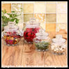 500 / 800ml Clear Glass Faceted Food Jar