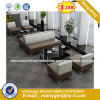 Classic Design Wooden Waiting Office Leather Sofa (HX-8N1501)