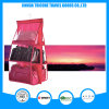 Transparent PVC and Non-Woven Red Hanging Pocket Organizer Storage Bag