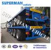 60t Cargo Flatbed Semi Truck Trailer 3 Axle