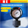 Polycarbonate Cover with Diaphragm Seal Pressure Meter