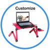 Custom Modern Flexible Adjustable Stainless Steel Computer Desk