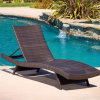 Rooftop Balcony Outdoor Garden Furniture Rattan Chairs Pool Sunbed Lounge Lying Bed