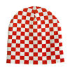 Fashion Red and White Checked Beanie Hat (JRK051)