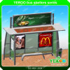 China Manufacturer Outdoor Advertising Bus Shelter with Solar System