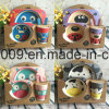 Customized Design BPA Free Bamboo Fiber Dinner Set for Kids, Cute Carton Design, Dinner Plate