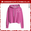Cheap Custom Blank Quality Smart Pink Crop Hoodies Girls (ELTCHI-16)
