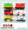 Wooden Magnetic City Traffic Building Block for Educational Toy