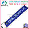 Custom Made Remove Before Flight Embroidery Key Chain with Split Ring