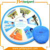 Fashion Foldable Frisbee with Silk Screen Printing