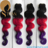 Ombre Color Virgin Indian Human Hair Weaving