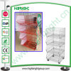 Powder Coating Rolling Wire Stacking Basket Display Stand