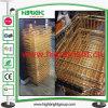 Golden Steel Wire Shopping Basket for Hypermarket