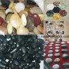 2-3cm Multicoloured Black Polished Natural Cobble &Pebble Stone