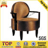 Hotel Wooden Comfortable Round Seat Leisure Arm Chairs