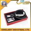 Leather Belt & Keychain in Set for Gift (KEM-001)