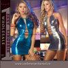 2 Colors Vinyl Bandage Clubwear Leather Dress (TLQZ52)