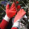 Nmsafety 13G Polyester Palm Coated Red Latex Work Glove