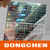 Adhesive Transparent Siver Hologram Overlay for PVC Card