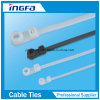 Plastic Material Nylon 66 Zip Ties Mountable Head Ties