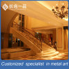 Customized Hollow out Rose Gold 304# Stainless Steel Stair Handrail