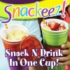 Drinking and Favorite Snacks All in One Hand Snackeez/Snackeez Cups/ Snack and Drink Cup
