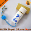 Chinese Classical Gifts Ceramic Oval USB Memory Stick (YT-9107)