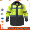 Men′s Hi Vis Reflective Safety Waterproof Jacket in Yellow/Black