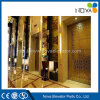 Hotel Passenger Elevator Lift with Golden Mirror Stainless Steel Cabin