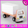 2015 Eco Friendly Wooden Goods Van Toys, DIY Van Wooden Assemble Educational Toy, White Wooden Van Toy for Christmas Gift W04A159