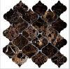 Emperador Dark Lantern Arabesque Marble Mosaic