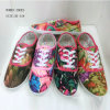 Latest Lady Flat Canvas Shoes Women Injection Cloth Shoes (1010-22)