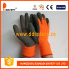 Ddsafety 2017 Fluorescence Acrylic Coating Grey Latex Gloves, Crinkle Finished