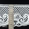 Scalloped Water Soluble Lace Trim by The Yard, White Scalloped Edge Lace Ribbon L038