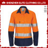 Wholesale 100% Cotton Orange Safety Shirts Reflective Tape
