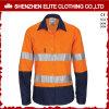 Wholesale 100% Cotton Orange Safety Shirts Reflective Tape