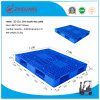 1300*1100*150mm Plastic Tray Double Sides Virgin HDPE Plastic Pallet Static 6t Nest Plastic Pallet for Warehouse Storage Products