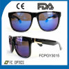 Oversized and Two Color Way Design Plastic Sunglasses with Revo Lens