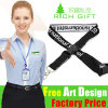 Silk Screen Printing Eco-Friendly Lanyard with Safety Plastic Buckle Pouch