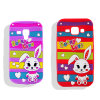 Colorful Stripe Love Rabbit Silicone Phone Case for iPhone 6 6plus 7plus (XSDW-014)