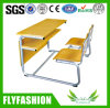 Wooden Detachable Double Desk and Chair (SF-41D)