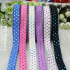 Wholesale 5/8'' Foe Elastic Foil Printed Ribbon
