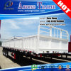 3-Axle 45t Flatbed Semi Truck Trailer with Side Wall (LAT9400)